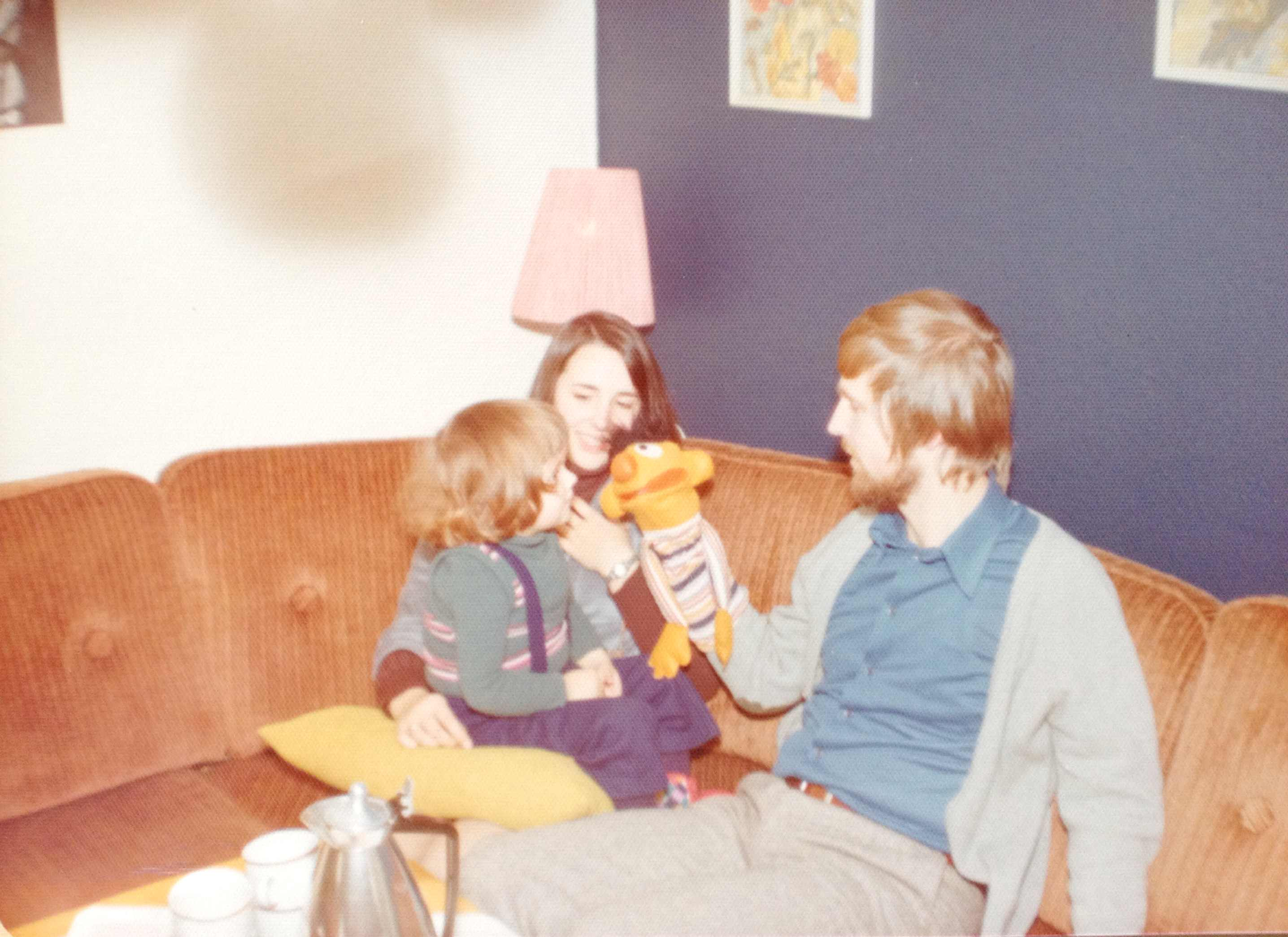 Me as a little girl with my aunt and uncle