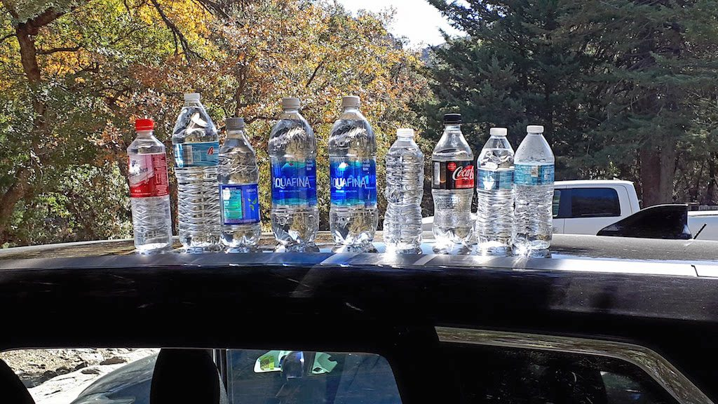 Water bottles for hiking