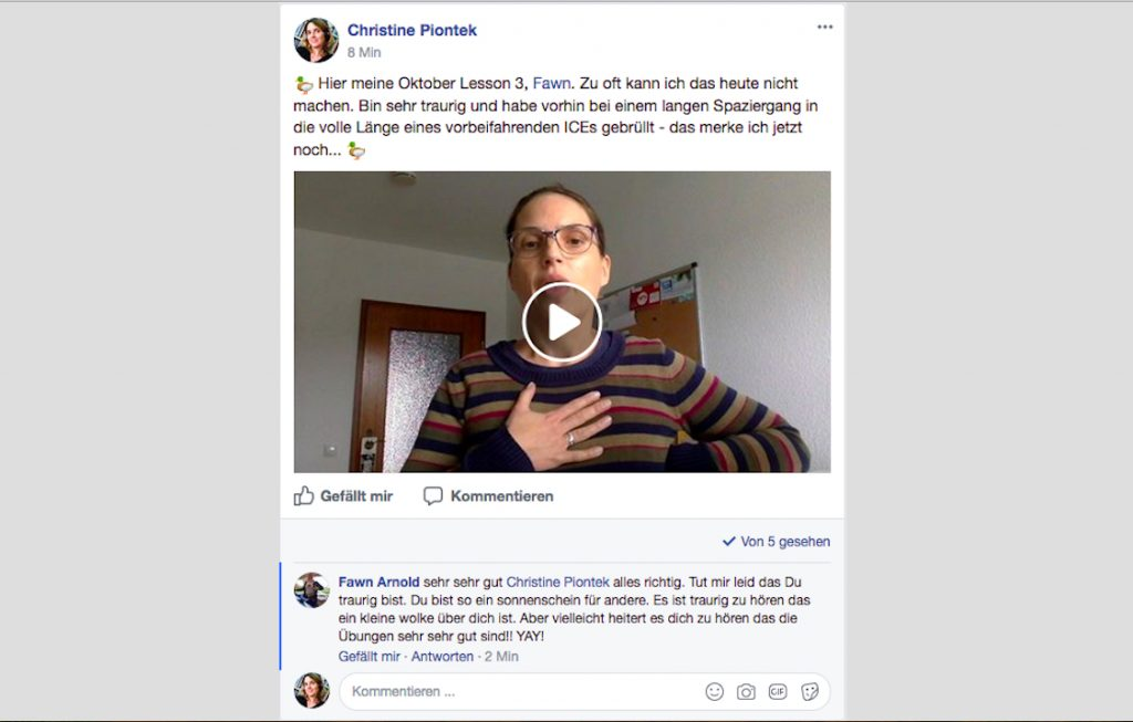 Blog Storytelling Text Christine Piontek Kommentar Online-Gesangsschule SOAOGS Fawn Arnold