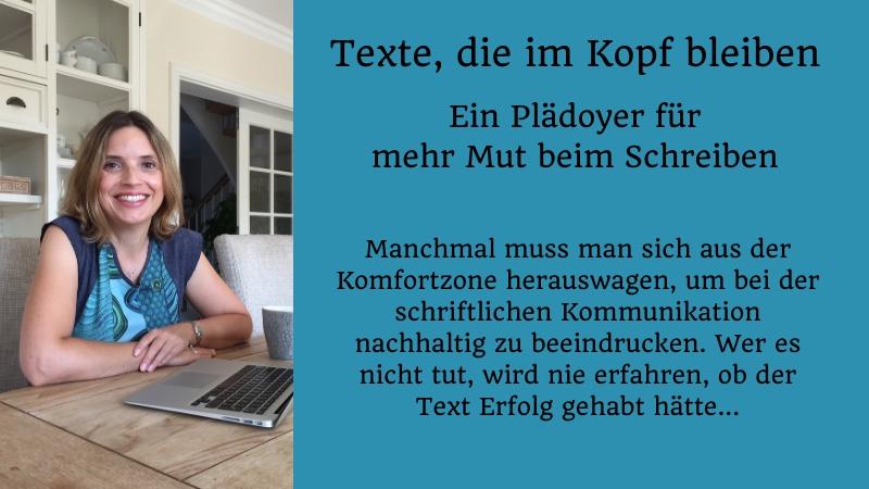 """Beitragsbild zum Artikel """"Texte, die im Kopf bleiben"""" von Christine Piontek"""